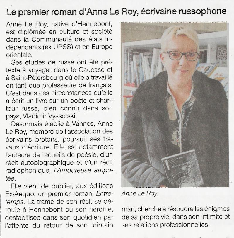 Anne le roy ouest france 01 03 19