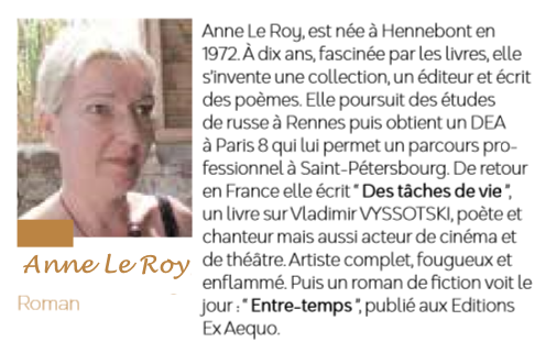 Anne le roy printemps litteraire erdeven