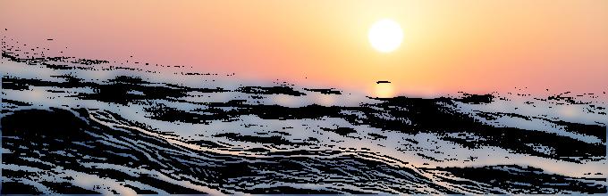 Soleil sur mer